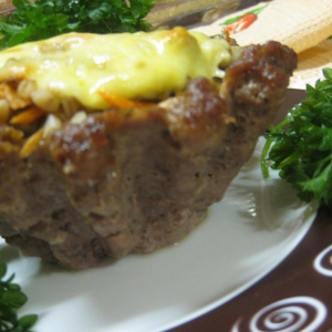 Сморчки и строчки - Гречка с грибами в мясной корзинке