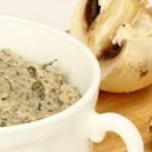 Шампиньон - Грибной соус-дип с укропом