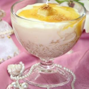 Йогурт - Грушевый десерт Белоснежная нежность