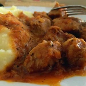 Тушеное мясо - Гуляш из свинины