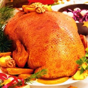 Рецепты из мяса птицы - Гусь с яблоками