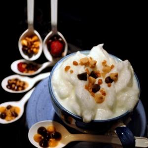 Фрукты - Густое ванильное молоко