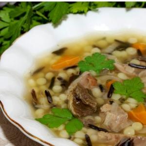Густой суп из дикого риса