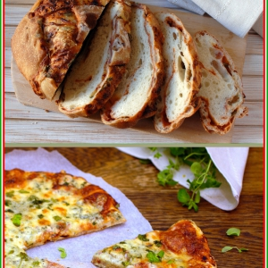 Хлеб - Хлеб и пицца с тремя сырами по-итальянски
