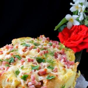 Лопух (репейник) - Хлебная запеканка Воскресный завтрак