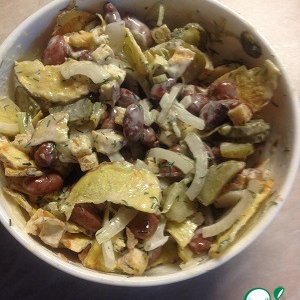 Фасоль - Хрустящий фасолевый салат