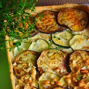 Масло оливковое - Кабачково-баклажанный пирог