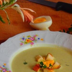 Хлеб - Кабачковый суп с луком-пореем
