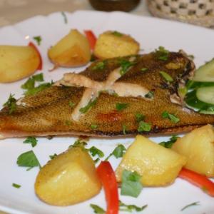 Запеченная рыба - Камбала, запеченная в меде