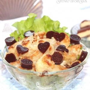 Капуста цветная - Карамельная цветная капуста с шоколадным желе