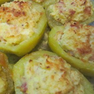 Фаршированные овощи - картофель, фаршированный творогом