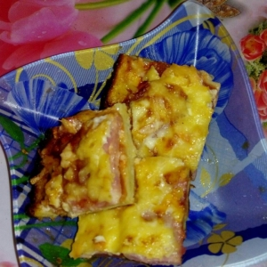 Колбаса - Картофельное тесто для пиццы