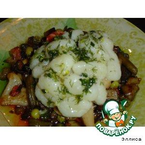 Капуста белокачанная - Картофельные клецки с овощами