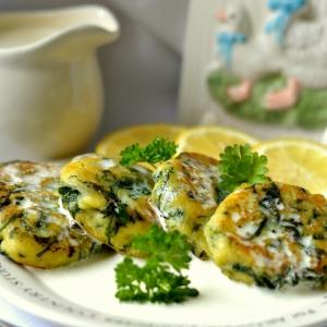 Овощные рецепты - Картофельные зразы со шпинатом