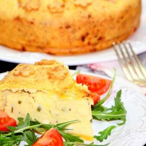 Лук зеленый - Картофельный пирог с сыром и зеленью