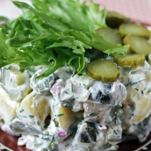 Рецепты скандинавской кухни - Картофельный салат по-фински