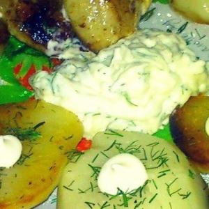 Пользователи - Картофель с чесночным соусом