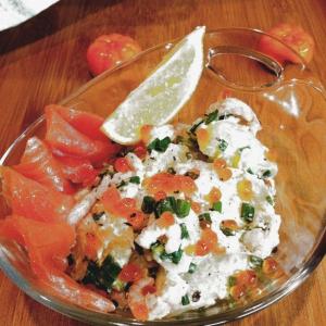 Икра - Картофель с икрой и лососем