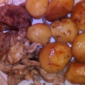 Сморчки и строчки - Картофель, запеченный в казане с мясом