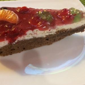 Творог - Кекс с творогом и заливными фруктами