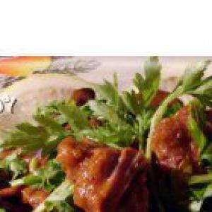 Хлеб ржаной - Кисло-сладкое мясо Эсик-флейш