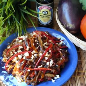 Рецепты салатов - Китайский салат с баклажанами