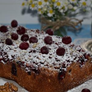Клюква - Клюквенный пирог с орехами