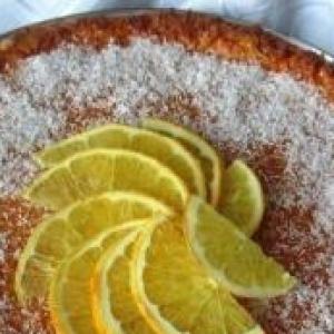 Кокос - Кокосово-апельсиновый тарт