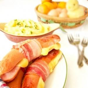 Колбаски по-эльзасски с овощным пюре
