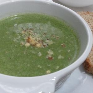 Вегетарианская кухня - Крем-суп из шпината