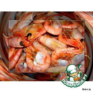 Рецепты скандинавской кухни - Креветки в заливке