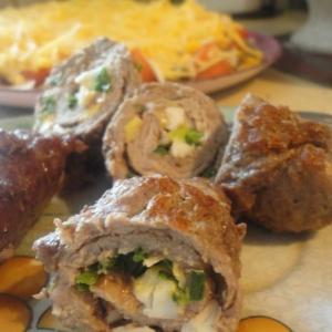 Телятина - Крученики из телятины с яйцом