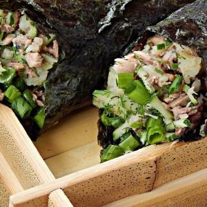 Тунец - Кулечки темаки с тунцом и овощами