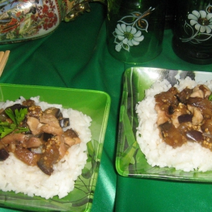 Имбирь - Курица с баклажанами и имбирем