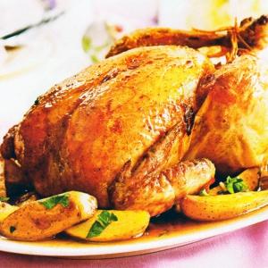 Курица с лимоном и запеченым картофелем