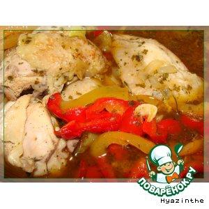 Пепперони - Курица с разноцветной паприкой