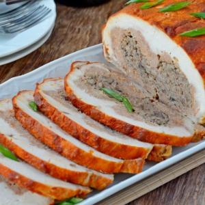 Кардамон - Курица со свининой, грибами и фасолью