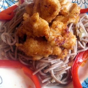 Рецепты китайской кухни - Курица терияки с гречневой лапшой