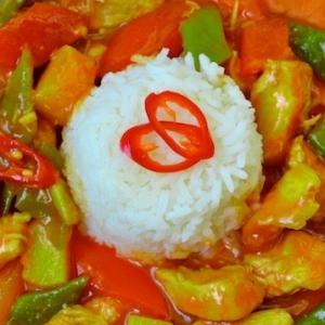 Рецепты китайской кухни - Курица в кисло-сладком соусе с ананасовым соком