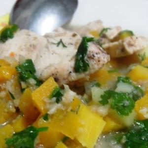 Айва - Куриная грудка с овощами