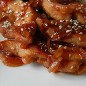 Рецепты японской кухни - Куриная грудка в соусе терияки