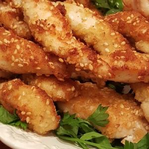 Масло кукурузное - Куриное филе в обжаренном кунжуте