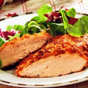Рецепты из мяса птицы - Куриное филе в ореховой панировке