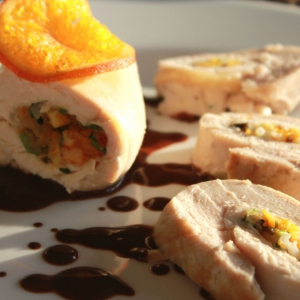 Мандарин - Куриные грудки с рисом и мандаринами