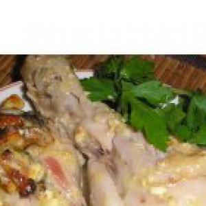 Душица - Куриные ножки в сметанном соусе