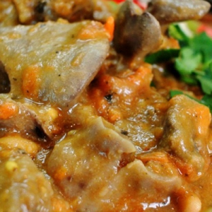 Фасоль - Куриные потроха по-мексикански