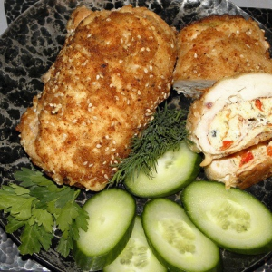 Петрушка - Куриные рулеты с омлетом