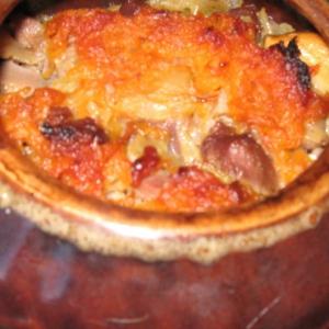 Желудки - Куриные желудки с картофелем в горшочках