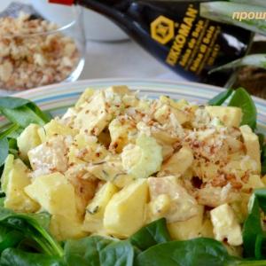 Хлеб - Куриный салат с ананасом