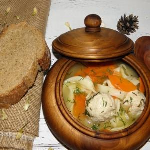 Узбекская кухня - Куриный суп Огра-ош